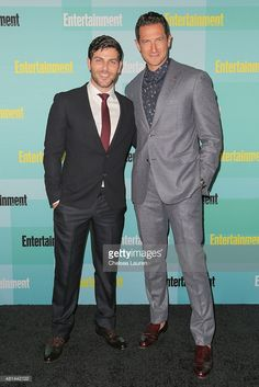 Grimm's David Giuntoli and Sasha Roiz at a Comic-Con after party by Entertainment Weekly