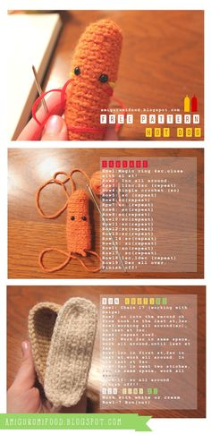 Amigurumi Food: Hot Dog Free Pattern! (English)
