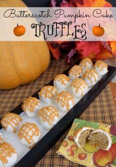✨Butterscotch Pumpkin Cake Truffles.✨ #Food #Drink #Trusper #Tip
