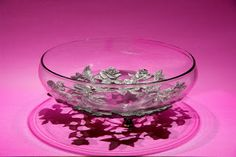 Seagull Pewter Low Serving Bowl -- Roses pattern, dated Punch Bowls, Pewter, Serving Bowls, Roses, Tin Metal, Mixing Bowls, Pink, Tin, Bowls