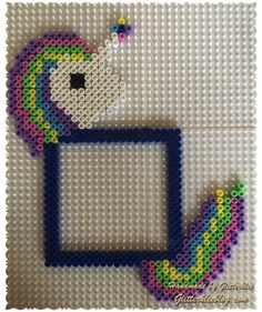 unicorn vorlage-1 Perler Beads, Yoshi, Picture Frames, Hanger, Pictures, Crafts, Fictional Characters, Art, Hama Beads Patterns