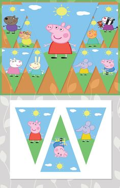Peppa Pig Birthday Banner Characters // Peppa Pig Banner // Peppa Pig Party // Peppa Pig Party Supplies // Peppa Pig Birthday Sign by ApothecaryTables on Etsy https://www.etsy.com/au/listing/214420433/peppa-pig-birthday-banner-characters