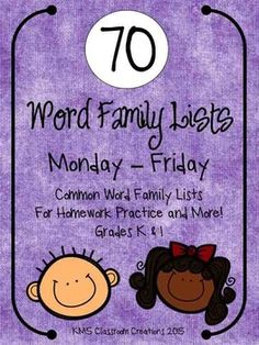 Word Families made easy and useful!