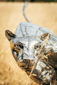 Michael Turner | Stainless Steel Cheetah - SOLD - Michael Turner