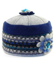 Another great find on #zulily! Blue Stripe Flower Pillbox Hat #zulilyfinds