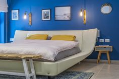 BEDROOM Blue wall Blue Bedroom, Blue Walls, House Styles, Furniture, Home Decor, Decoration Home, Room Decor, Blue Bedrooms, Home Furnishings