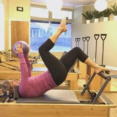 """As I lament losing an hour of sleep today , I strive to open up my hips for this week's edition of #healingwithpilates 57. The Pilates bridge not only works the posterior chain, but is an excellent lesson in pelvic stability when one limb is lifted at a time. Here I demonstrate basic """"marching"""" as I work to remain completely stable through my center. I visualize quietly setting one heel down as I lift the other. I added the ball between my thighs for a greater stability challenge. This…"""