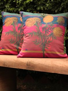Multi-color Block Printed Cotton Cushion Covers - Set Of 2