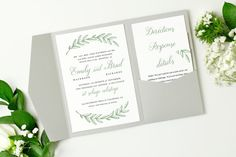 Pocket Wedding Invitation Template  INSTANT by SwellAndGrand