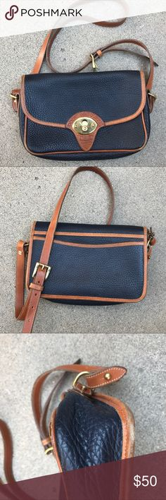 Dooney & Bourke cross body satchel, leather, navy Dooney & Bourke cross body satchel, leather, navy, some wear on the bottom (as pictured) •10 1/2 inch long • 7 1/2 inch width ALWAYS WILLING TO NEGOTIATE, MAKE ME AN OFFER<3 Dooney & Bourke Bags Crossbody Bags