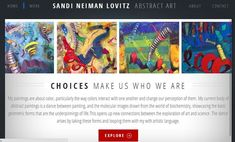 Artist Website Strategies: Improve Your Home Page, by Carolyn Edlund, Artsy Shark, January 9, 2014 (image of Sandi Neiman Lovitz website)