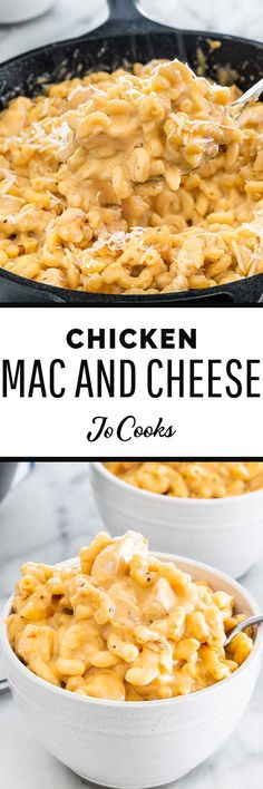 My Chicken Mac and Cheese is perfectly saucy, made with both stretchy mozzarella and sharp cheddar. It's the comfort meal you've been craving! Best Macaroni And Cheese, Mac And Cheese, Freezing Cooked Pasta, Best Pasta Dishes, Rice Dishes, Macaroni Recipes, Thanksgiving Side Dishes, Healthy Vegetables, Appetizer Recipes