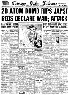 2d Atom bomb rips Japs! Reds declare War;Attack. ※8/9/1945,Chicago Tribune