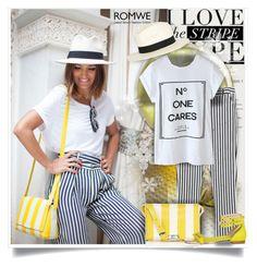 """Print White T-shirt - Romwe.com Contest"" by bebushkaj ❤ liked on Polyvore featuring Karen Millen, rag & bone and Maiyet"