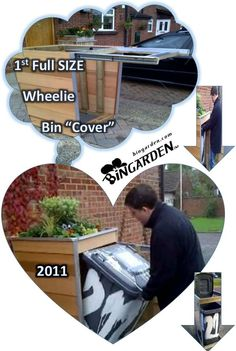 1st Full size wheelie bin cover on YouTube my herb veggie BINGARDEN™ grow herbs chillies tomatoes strawberries above my wheelie bin made many tasty meals from produce grown above my trash Oscar the Grouch would be proud from Sesame Street Kids ask ya mum