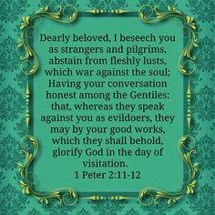 1 Peter 2:11-12 KJV