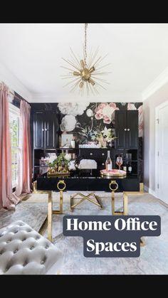 Tiny Home Office, Home Office Space, Home Office Design, Modern House Design, Office Designs, Office Style, Apartment Office, Office Spaces, Modern Houses