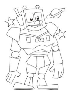 55 Best Robot Coloring Pages Images On Pinterest