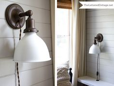 Home Office – Guest Bedroom Reveal   The Lettered Cottage lighting idea