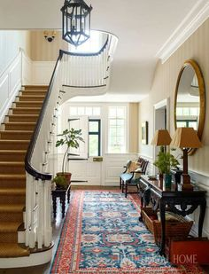 Elegant A Historicaly Inspired Dutch Colonial By Gil Schafer; Front Door Foyer Entrance  Hall With Staircase!