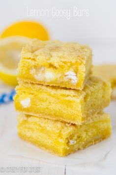 Lemon Gooey Bars. Hands down, these are my FAVORITE gooey bars of all time!