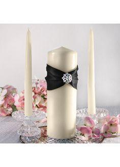 Black & Ivory Unity Candle