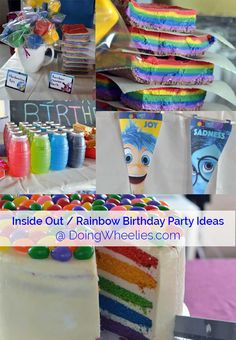 Inside Out / Rainbow Inspired Birthday Party - Doing Wheelies
