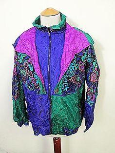 Vintage 90s Designer Superhero Mod Crazy Pattern Waterproof Shellsuit Jacket XL