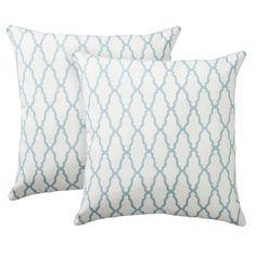 Threshold™ 2-Pack Trellis Toss Pillows - Blue
