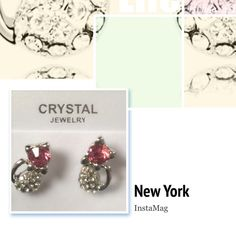 9K GF earings, cute cat studs Women's 9K White Gold Filled,CZ & Crystal Earrings Stud Jewelry Earrings