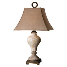 Found it at Wayfair - Fobello Table Lamp in Crackled Ivory