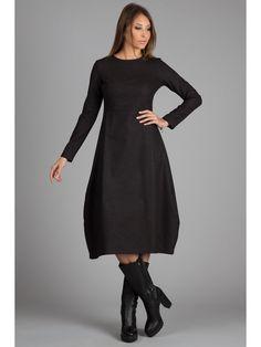 Black Wool Dress.Oversize MIDI Coat dress. от FashionDress8