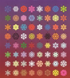 Fun paper snowflkes you can make for any time of the year.  See AllSeasonSnowflakes.com for patterns and ways to decorate.