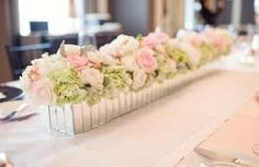 soft pink flowers wedding table - Google Search