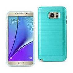 REIKO SAMSUNG GALAXY NOTE 5 HYBRID METAL BRUSHED TEXTURE CASE (7 Colors)