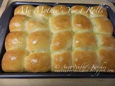 My Mother's Yeast Roll Recipe...this one looks like the best one yet! I may have to try this before Thanksgiving and Christmas!!