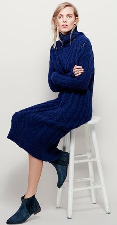 Free People - Cozy Cable Maxi Sweater