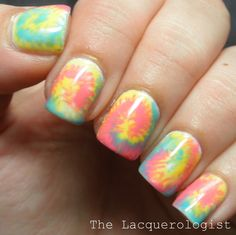 The Lacquerologist: OPI GelColor Tie Dye Nails Inspired by Algae Veronica!