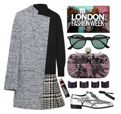 """London Fashion Week"" by karineminzonwilson ❤ liked on Polyvore featuring Jill Stuart, Equipment, Zara, Alexander McQueen, Ray-Ban, Giuseppe Zanotti, Bobbi Brown Cosmetics, Maison Margiela, Bare Escentuals and women's clothing"
