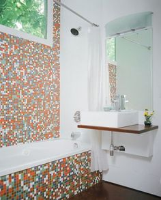 59 best container home interiors images in 2013 - Shipping container bathroom design ...