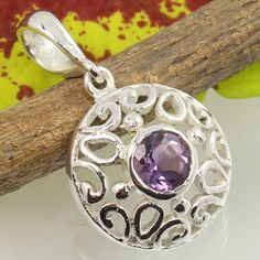 Started in SUNRISE JEWELLERS (Indian Silver Jewellery Us has flourished into one of the top manufacturers & exporters for gemstone studded silver jewelry & Sterling silver jewelry without gemstones. Amethyst Jewelry, Amethyst Pendant, Sterling Silver Jewelry, Silver Jewellery Indian, Purple Fashion, Handmade Art, Washer Necklace, Pendants, Jewels