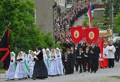 Members of the minority Sorb community take part in a Corpus Christi procession in Crostwitz, Germany. (Matthias Hiekel)