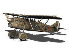 fiat cr 32 - italy airforce - 160 squadriglia 3d model obj fbx c4d lwo lw lws 18