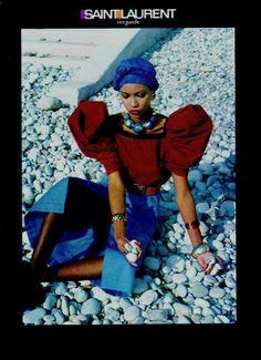 Circa 1982 - Amalia Varelli for Yves Saint Laurent Rive Gauche Photo helmut Newton