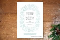 Vintage Wreath Save the Date Cards by Griffinbell Studio at minted.com