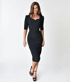 ea48026e92 The Pretty Dress Company Black Sleeved Charlotte Pencil Dres Bodice