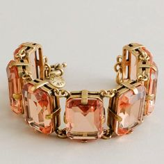 peachy gemstone bracelet