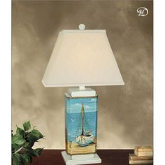Sailboat Table Lamp via The Beach Look. Click on the image to see more!