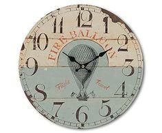 Horloge, bleu clair et beige - Ø34