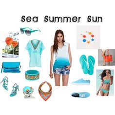 """Summer Blue"" by angyxxx on Polyvore"